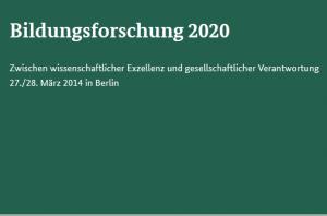 Forum Bildungsforschung 2020