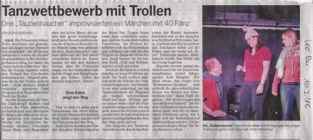 Artikel der Kölner Rundschau